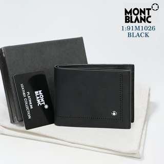 DOMPET MEREK MONT BLANC   91M1026#8  KUALITAS: SEMPREM BAHAN: KULIT WARNA: COFFE & BLACK UK: 9×10cm FREE BOX BERAT: 0,2KG  H 185rb