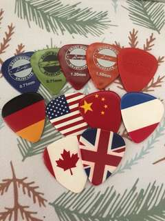 Brand new guitar picks (1 full set as shown)