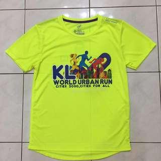 KL World Urban Run 2018 Tee Neon Green