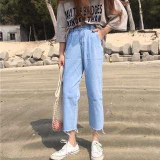 Ulzzang Highwaisted Boyfriend Jeans