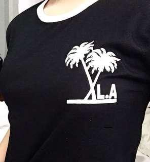 LA Black Cropped Top