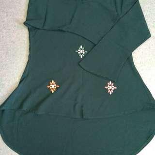 #Bajet20 Preloved Women Blouse Shirt Fish Tail