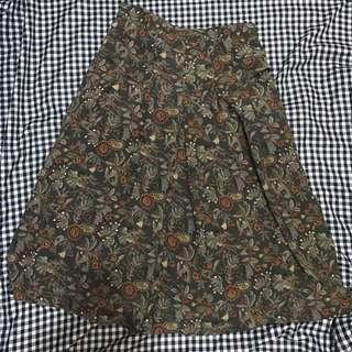 Flowers midi skirt