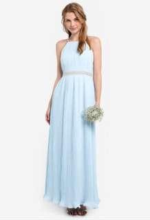 Bridesmaid Pleated Maxi Dress (From ZALORA)