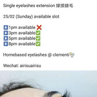 Eyelashes extension @ clementi