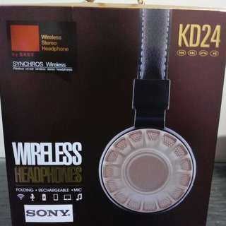 Sony KD24 wireless headphones (gold)