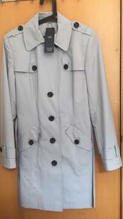 Marks and Spencer 馬莎 灰色乾濕外套trench coat 100%new!