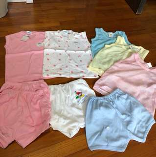 BN singlets and shorts for babies
