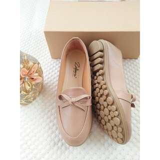 Sepatu slip on, loafers, flat shoes