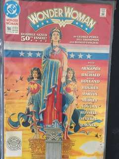 Wonder Woman 50th DC comic issue. (Mint condition)