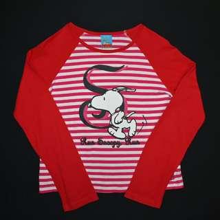 Run Snoopy Run PEANUTS Long Sleeve Top