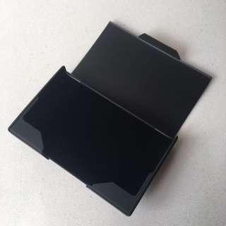 Matt black business card holder