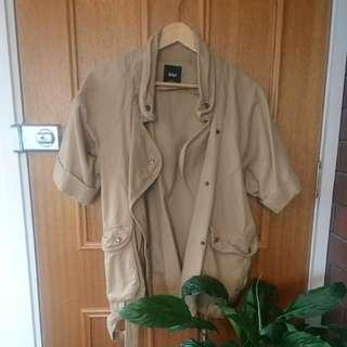 Slouch beige coat/ jacket