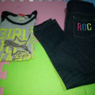 Take all Rocawear Pants and Fila Top(Size 7-8y/o)