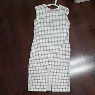Brand new plus size checkered dress