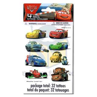 🚘 Disney Cars party supplies - Cars tattoos / party gifts