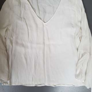 Glassons white, bell sleeve shirt