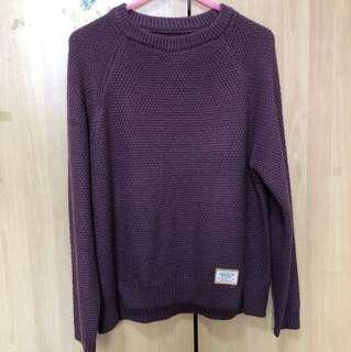 Dark red/Maroon knitted long sleeves