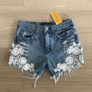 BNWT DENIM TOPSHOP INSPIRED SHORTS