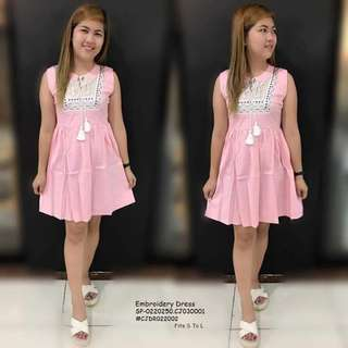 Embroidery dress fits S-L
