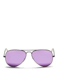 Auth Ray-Ban Aviator Lilac Flash Lens
