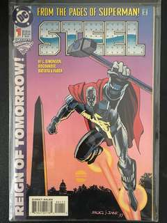 Steel DC Comic (1st and 2nd edition) Very rare and mint condition.
