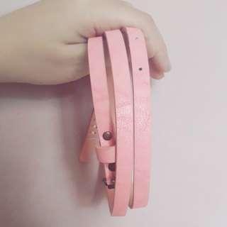 Pink Belt Bershka