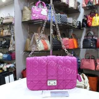 Christian Dior Miss Dior Fuchsia Medium Flap Bag