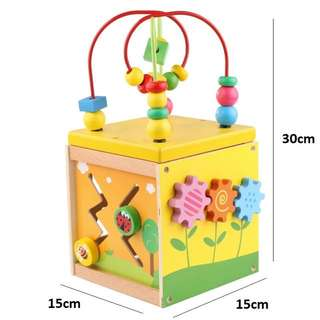 Wooden learning cube