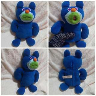 Original Fisher Price Sing A Ma Jig Plush Stuff Toy - Blue