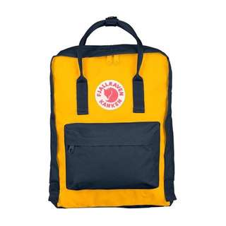 [INSTOCK] FJALLRAVEN KANKEN CLASSIC BACKPACK (WARM YELLOW/NAVY)