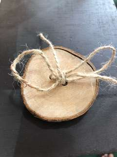 Rustic ring holder