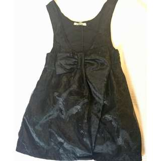 Chloé Black tank with bow detail