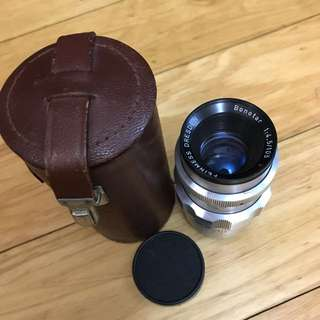 FEINMESS DRESDEN BONOTAR 105mm f4.5 EXA MOUNT WITH CASE