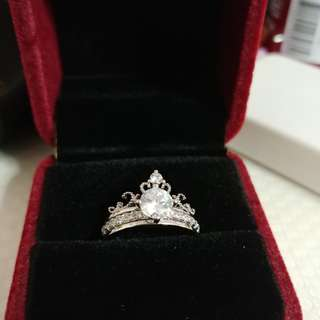 Authentic Castle Group Tiara Ring 2in1