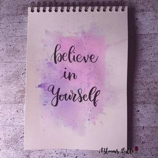 Calligraphy Card (Believe in Yourself)