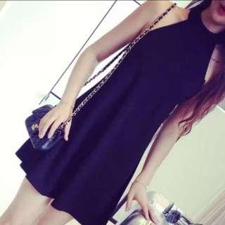 Basic Black halter dress