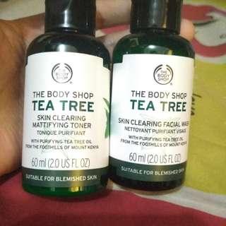 Tea tree facial wash + toner 60ml