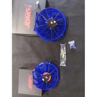 JDM  Super High Speed radiator fan 12''  BLUE  color 195W  model 40108