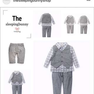 Boy shirt suit