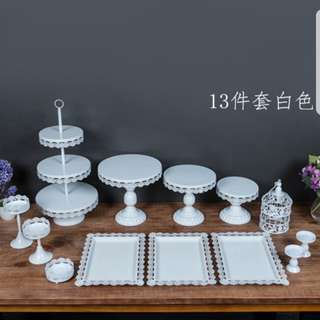 Rental of Dessert Table Trays Cake Tower Cupcakes