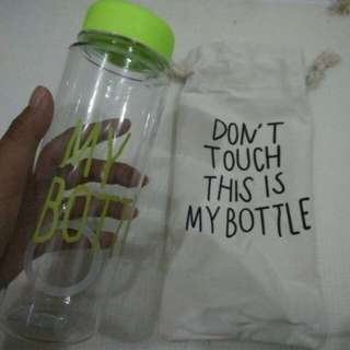 Botol minum + cover