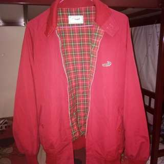 Lacoste red bomber jacket