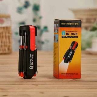 8in1 screwdriver w/ flashlight