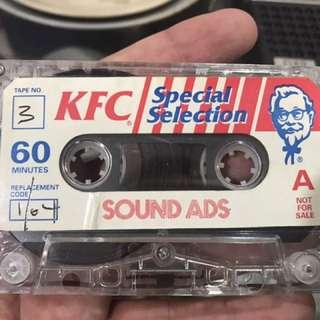 Vintage KFC Cassette
