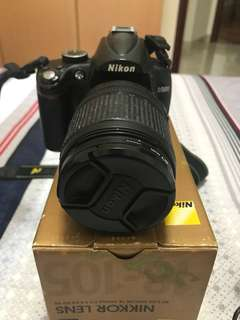 Nikon D5000 with 18-105mm lens