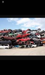 Export car / scrap car / car body value / Deregister car