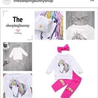 Unicorn shirt set