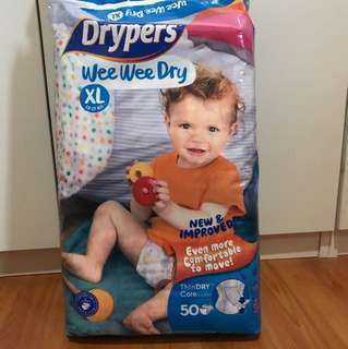 Drypers XL size