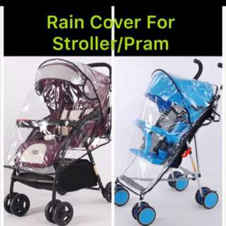 🌈(Ready Stock)💯🆕Brand New Rain Cover / Weather Shield / Canopy for stroller/pram